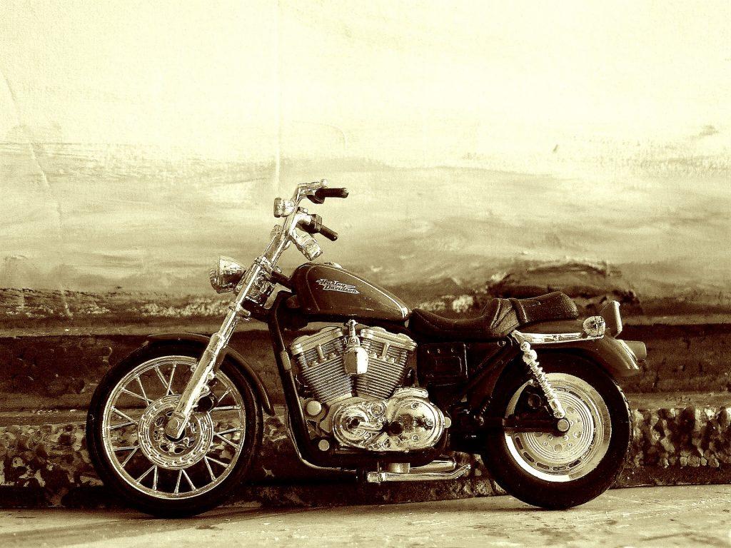 Moto chopper de Harley-Davidson de la década de los 50
