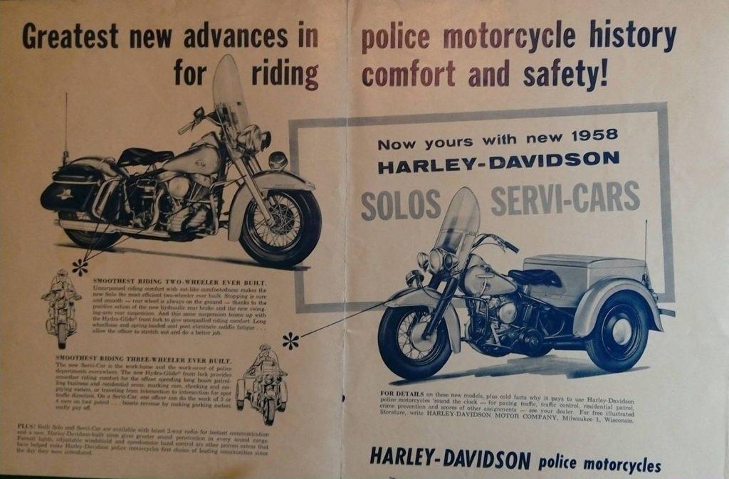 Promoción antigua de la harley davidson